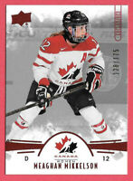 2016-17 Meaghan Mikkelson Upper Deck Team Canada Juniors 128/175 Red