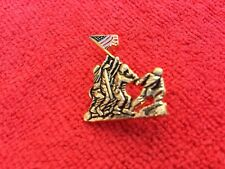 Usmc Iwo Jima Hat/ Lapel Pin W/Painted Flag