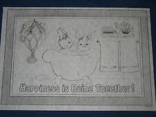 * Tri Chem 7764 Happiness Is Being Together Bunnies Tub Picture to paint Trichem