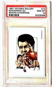 1991 VICTORIA GALLERY #13 MUHAMMAD ALI ! BEAUTIFUL CARD ! PSA 10 !! GEM MINT !