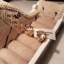 Beautiful Green Amethyst stud earrings in 14k Gold over Sterling Silver