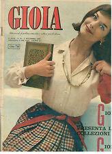 GIOIA N. 36 4 SETTEMBRE 1960 MODA ITALIAN FASHION MAGAZINE COLLEZIONI