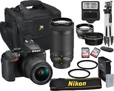 Nikon D5600 DSLR 24.2 MP Camera with 18-55mm & 70-300mm Lenses Bundle