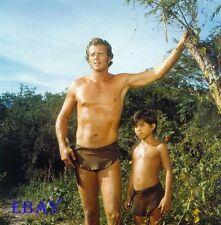 Ron Ely Manuel Padilla Jr. Tarzan Vintage 2 1/4 TRANSPARENCY