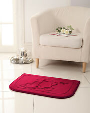 Red Coffee Memory Foam Anti Fatigue Kitchen Floor Mat Rug Victoria Classics