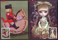 2015 Bulgaria Europa Antique toys , Doll,  Baby horse  2 x Maxicards
