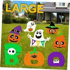 Halloween Decorations Outdoor, Extra Large 8ct Boo Pumpkins Ghost Corrugate