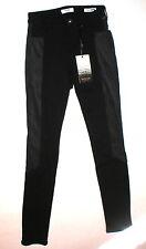 NWT $108 New Womens Kensie Jeans Skinny Ponte Knit Pants Black 26 Moto Tall Sued