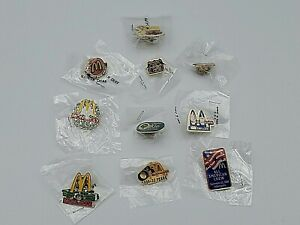 New, Sealed McDonald's Employee Hat / Lapel Pin Lot - Pick any 3 for $14.99