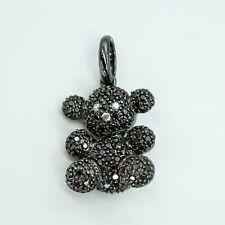 TOUS 18K white gold Black Sapphire Diamond Bubble Bear Pendant (17775)