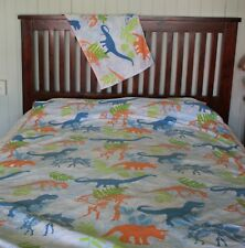 DINOSAUR single bed quilt cover set + pillowcase TARGET brand. vgc