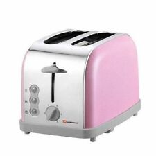 2 Two Slice Wide Slot Toaster Fast Toast Reheat Defrost High Lift  900W Pink