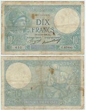 BILLET 10 FRANCS MINERVE OY 17 12 1936 OY 635 U 67895