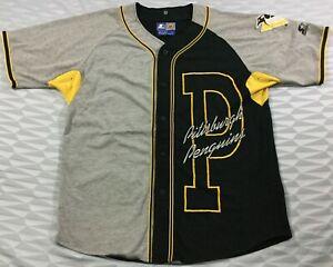 Vintage Pittsburgh Penguins Ice Hockey NHL Starter Jersey SizeL
