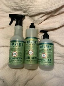 Meyer's Clean Day Iowa Pine - 3 PACK - Dish Soap, Hand Soap, All-Purpose Spray