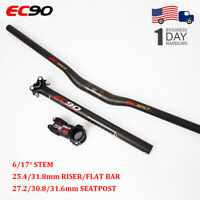 EC90 Flat/Riser 25.4/31.8 Handlebar Seatpost 27.2-31.6 Stem 6/17 Degree MTB Bike