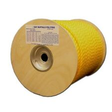 "T.W . Evans Cordage 80-026 3/8"" by 300-Feet Buffalo Twisted Polypro Rope, Yellow"