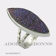 Authentic Lori Bonn Sterling Silver Pizzaz Cocktail Ring Size 7  311505DRB