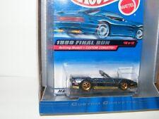 1:64 Mattel Hot Wheels 1999 Final Run Retiring Model Custom Corvette #10 of 12