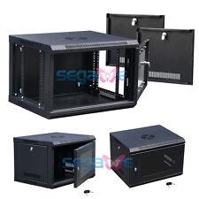 Wall Mount Network Server Data Cabinet Enclosure Rack Glass Door Loc 6U