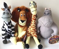 "Set of 4 Toys Madagascar 3 Large Asst. 12-15""  Licensed Plush Animals.NEW. Soft."