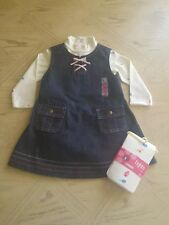 Gymboree Baby Girl Jeans Dress 4Pc Outfit Size 12-18M