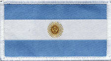 Argentinian Flag Argentina Woven Badge, Patch 8cmx4.5cm