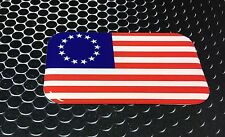 "USA Flag Betsy Ross Flag Proud Shield Domed Decal Emblem Car Sticker 3D 3.2x 2"""