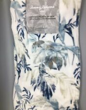 Tommy Bahama Palm Frond Throw Blanket Soft Micro Plush Blue Gray Tropical 50x70