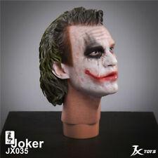 JXTOYS 1/4 The Joker Head Carving Half Painted Clown Head Sculpt Male Head Model