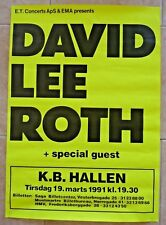 David Lee Roth 1991 Tour 24x34 Concert Poster 100% Real Rare Denmark