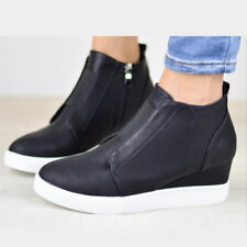 Womens Ladies Ankle Boots Winter Warm Zipper Martin Booties Casual Shoes Size
