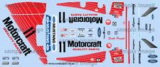 1986 Motorcraft Mustang GTO  water transfer decals, Revell, S Pruett 1/25