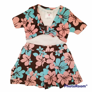 Mad Sky Girls Outfit 24 Months Floral Skort T-Shirt Top with Attached Bolero