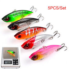 5pcs/set VIB Fishing Lures 6.5CM/11G Crankbaits Hooks Minnow Baits Tackle Crank