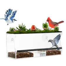 New listing Window Bird Feeder with Strong Suction Cups and High-end Artificial Grasses