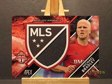 2016 Topps Apex MLS Crest Jumbo Relics #CJRMBR Michael Bradley/89 SN 37/89