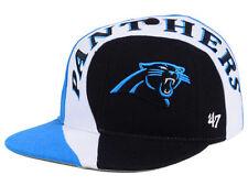 325365ce9a5 Carolina Panthers NFL 47 BRAND Captains Logo Black Blue Hat Cap Adjustable  Sz