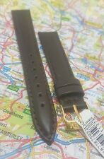 Dark Brown  Morellato Leather Watch Strap/Band 16 mm. Padded Gold Buckle
