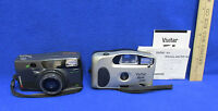 Vintage 35 mm Camera Vivitar Spree Date & Chinon Auto 386Z Lot of 2 Untested