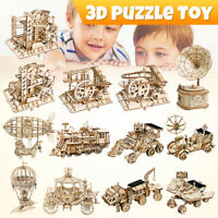 3D DIY Wooden Model Kits Mechanical Gear Drive Puzzle Toy for Adult Teens