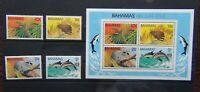 Bahamas 1982 Wildlife 2nd Series Mammals set & Miniature Sheet MNH