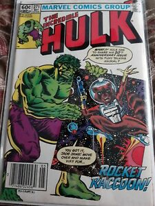 The Incredible Hulk #271- NEWSSTAND- First Appearance Of Rocket Raccoon