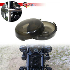 2x Turn Signal Light Smoke Lens Cover for Harley Electra Glide Sportster Touring