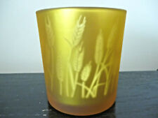 Yankee Candle Golden Wheat Flicker Silver Reflective Votive Candle Holder NEW