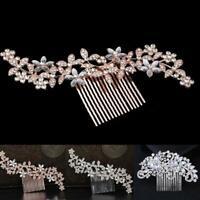 Wedding Diamond Crystal Hair Comb Pins Clips Rhinestone Hair Bridal M9W6