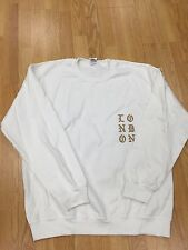 KANYE WEST POPUP LONDON AUTHENTIC WHO YOUR REAL FRIENDS WHITE CREWNECK L SOLDOUT