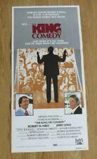 THE KING OF COMEDY ORIGINAL 1983 CINEMA DAYBILL POSTER Robert DeNiro Jerry Lewis