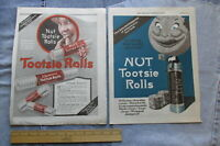 Lot of TWO 1919 NUT TOOTSIE ROLLS Full-Page Color Candy ADS by Sweets Company