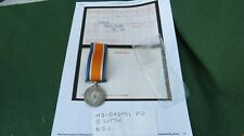 1914 - 1918 BRITISH WAR MEDAL TO M2-082931 PTE R LITTLE ARMY SERVICE CORPS